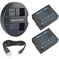 Newmowa DMW-BLC12 互換バッテリー 2個+充電器 対応機種 Panasonic DMW-BLC12, BP-DC12 and Panasonic DMC-G5 DMC-G6 DMC-G7 DMC-GH2 DMC-FZ200 DMC-FZ1000 DMC-FZ2500