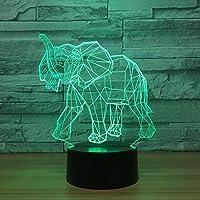 RTYHI 小さなゾウ 3D ナイトライト カラフル リモートコントロール タッチキッズランプ アクリル LED ギフト デスクトップ スモール 3D ライト TFGLKLTYGH-5429126