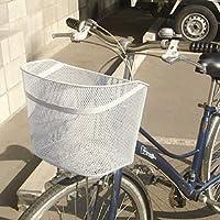 メッシュタイプ 自転車用前かご グレー