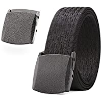 WERFOR Nylon Web Belt Military Tactical Men Waist Belt With Plastic Buckle Nickle Free