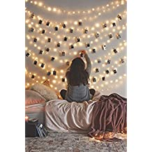 66 Ft 200LEDs Waterproof Starry Fairy Copper String Lights USB Powered for Bedroom Indoor Outdoor Warm White Ambiance Lighting for Patio Halloween Thanksgiving Christmas Party Wedding Decor