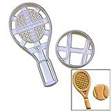 テニスラケットとボールのセットCookie Cutters、2個、理想的なギフトのテニス選手