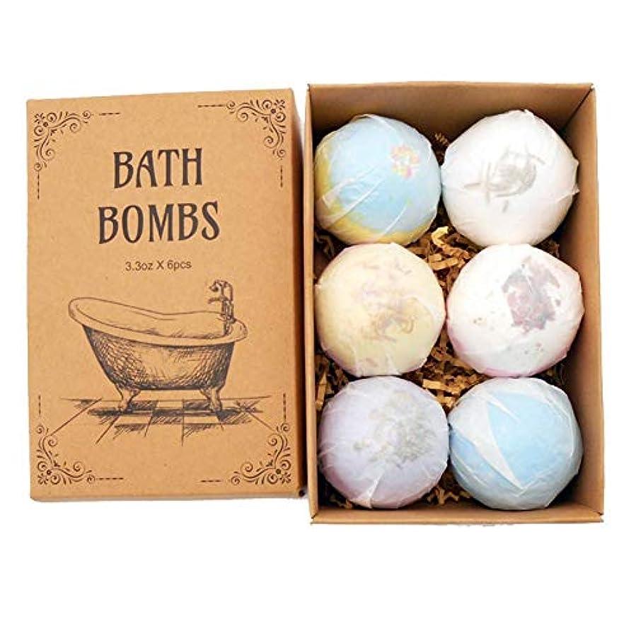 バスボール バスボム 6個セット 入浴剤 バスソルト 爆弾バスボール 天然海塩 香り お風呂用 バスケア しっとり感 潤い 肌に良い 乾燥肌 敏感肌 抗疲労 かわいい junexi