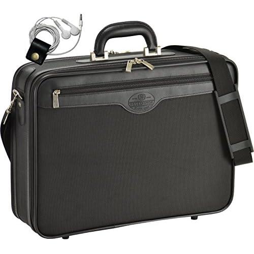 ソフト アタッシュケース ビジネスバッグ A3書類対応 横幅45cm 重さ1410g WELLINGTON (ウエリントン) 21219 [オリジナルハンドメイド牛革製ケーブルバンドセット]
