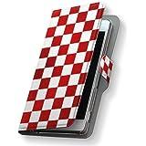 iphone8 ケース カバー 手帳型 スマコレ 全機種対応 有り レザー 手帳タイプ 革 スマホケース スマホカバー iphone 8 アイフォーン チェック・ボーダー 006991 APPLE APPLE softbank ソフトバンク 市松模様 チェック 模様 iphone8-006991-nb