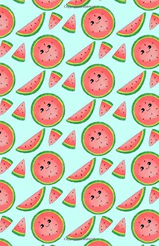 Bullet Journal: Cute Watermelon Notebook, Dotted Grid, (5.5 x 8.5)