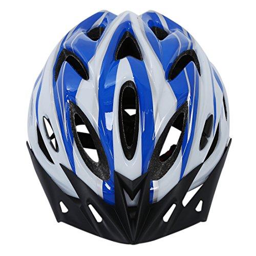 [해외]SODIAL (R) 보호 헬멧 블루 화이트 L 남여 사이클링~ 산악 자전거 용 바이저 포함/SODIAL (R) Protective Helmet Blue White L Unisex Cycling with Visor for Mountain Biking