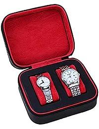 E-Goal 腕時計収納ケース 収納ボックス PUレザー 2本用 黒