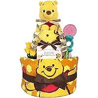 おむつケーキ くまのプーさん 出産祝い 男の子 女の子 2段 3001(出産祝い)