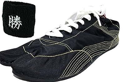 [無敵]MUTEKI 【ランニング足袋】[リストバンド付き]伝統職人の匠技が創り出すランニングシューズ《008-muteki-r-黒》 (27.0)