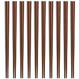日本製 業務用 エコ箸 10膳セット(こげ茶色) SPS樹脂使用ECO箸 食器洗浄器・高温保管庫対応 22.5cm×3mm角(箸先) Eco Friendly  sps resin Chopsticks