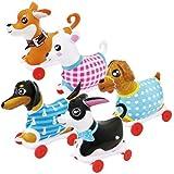 【ビニール玩具】NEW お散歩犬?小 5種アソート(5個入)