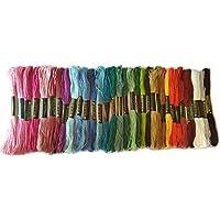 綿 25番刺繍糸 DMCと同じ色番号 自然色セット クロスステッチ、ミサンガ等に最適 (32色35本) [並行輸入品]