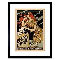 Ad Marquet Ink Grasset Paris France Vintage Framed Wall Art Print パリフランスビンテージ壁
