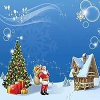 GladsBuy Kindサンタクロース10' x 10'デジタル印刷写真バックドロップクリスマステーマ背景yha-442