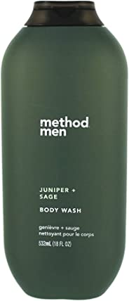 Method Mens Body Wash, Juniper + Sage, 532ml