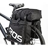 ArcEnCiel JAPAN 自転車サイドバッグ 多機能リアバッグ 収納力抜群リアサイドバッグ