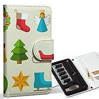 スマコレ ploom TECH プルームテック 専用 レザーケース 手帳型 タバコ ケース カバー 合皮 ケース カバー 収納 プルームケース デザイン 革 クリスマス サンタ 雪だるま 009964