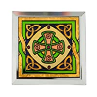 ステンドグラスLoose Coaster with Celtic高クロスデザイン