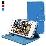 英国Snugg社 iPod Touch (第5世代/第6世代) 用 手帳型 PUレザーケース - 生涯補償付き (ブルー)
