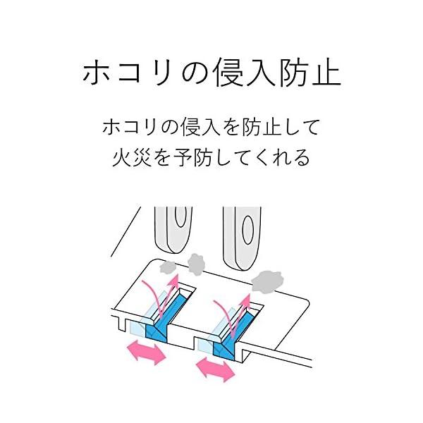 エレコム 電源タップ ほこり防止シャッター付き...の紹介画像4