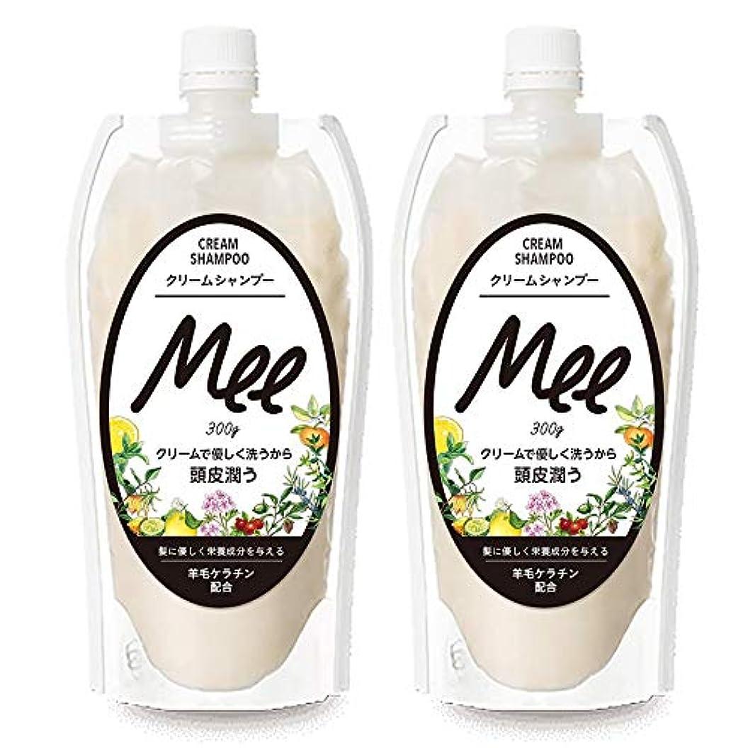 二層フレームワーク優先まとめ買い【2個組】 NEW!! 洗えるトリートメントMEE Mee 300g×2個SET クリームシャンプー 皮脂 乾燥肌 ダメージケア 大容量 時短 フケ かゆみ