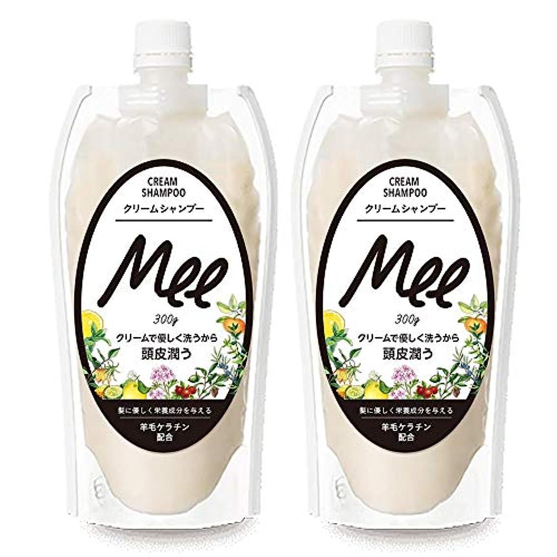 ことわざ受取人地平線まとめ買い【2個組】 NEW!! 洗えるトリートメントMEE Mee 300g×2個SET クリームシャンプー 皮脂 乾燥肌 ダメージケア 大容量 時短 フケ かゆみ