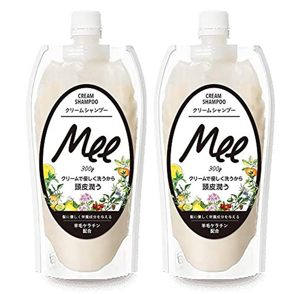なしで皮嵐まとめ買い【2個組】 NEW!! 洗えるトリートメントMEE Mee 300g×2個SET クリームシャンプー 皮脂 乾燥肌 ダメージケア 大容量 時短 フケ かゆみ