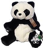 かわいい パンダ ぬいぐるみタイプ リュック サック キーホルダー付き 子供 遠足 バッグ ぱんだ