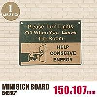 ミニサインボード「ENERGY」