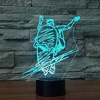 Llhydスケートボードled錯覚ライトナイトライト光学ベッドサイドテーブルナイトライト照明子供のランプ睡眠照明7色変更装飾テーブルランプ