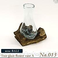 arne 花瓶 ガラス フラワーベース BALI Treeglass flowervase A 【No.013】天然 素材 ナチュラル リサイクルガラス 一点もの