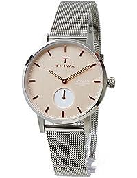 TRIWA トリワ SVALAN スヴァラン SVST102-MS121212 BLUSH SILVER シルバー ベージュ レディースモデル スモールセコンド アナログ 女性用腕時計 薄型 軽量 ステンレスメッシュベルト [並行輸入品]