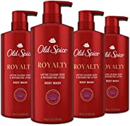 Old Spice Body Wash for Men, Aluminum Free, Royalty Cologne Scent, 16.9 Fl Ounce, 4 count