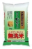 【精米】新潟県産 無洗米 こしひかり 5kg 平成29年産