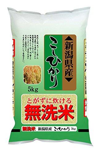 【精米】新潟県産 無洗米 こしひかり 5kg 平成29年産...