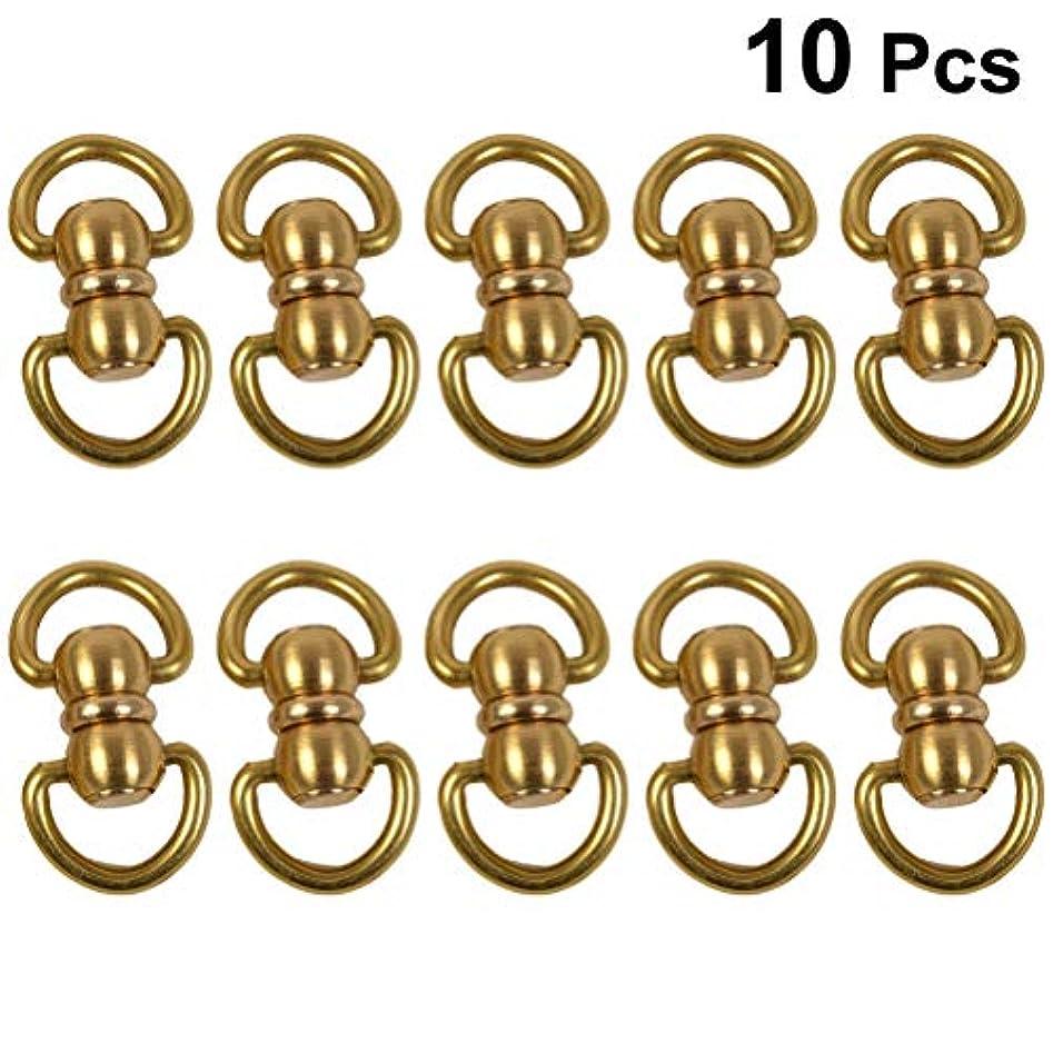 カーフヒントインタフェースSUPVOX 10pcs接続リング真鍮ベアリングリングDIY革製の宝石ストラップバッグベルトキーホルダーサイズ S