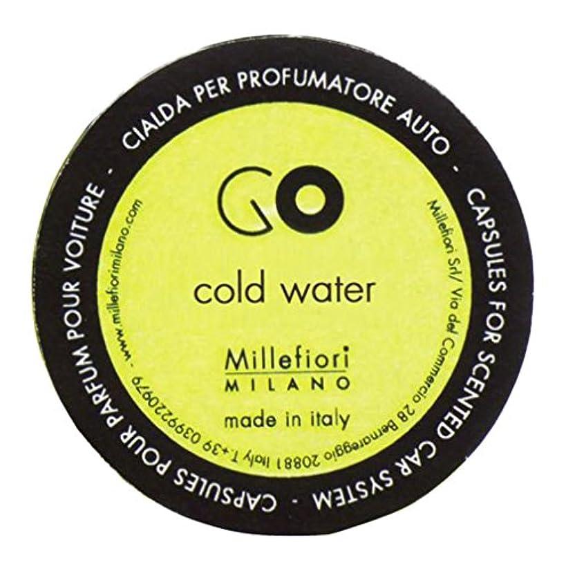 素晴らしい良い多くのキャンセル昼食Millefiori カーエアフレッシュナー GO レフィル コールドウォーター 1pcs RGCW