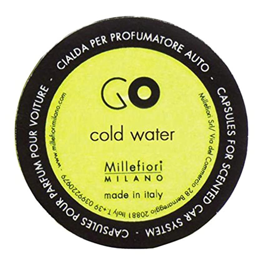 祈り計算する暗唱するMillefiori カーエアフレッシュナー GO レフィル コールドウォーター 1pcs RGCW