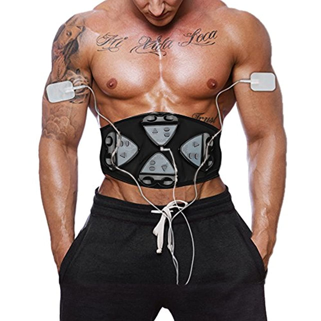 聖書主人火山学腹筋ベルトEMS腹筋刺激筋力トレーニング筋力トレーニング腹部トレーニング4コントローラベルト