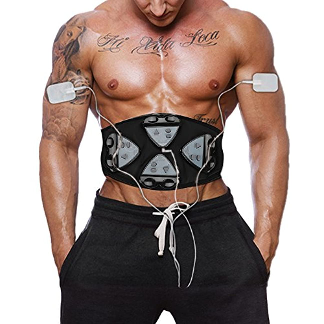 保安正確普通に腹筋ベルトEMS腹筋刺激筋力トレーニング筋力トレーニング腹部トレーニング4コントローラベルト