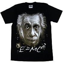 アインシュタイン E=mc2 Tシャツ ブラック (Mサイズ)