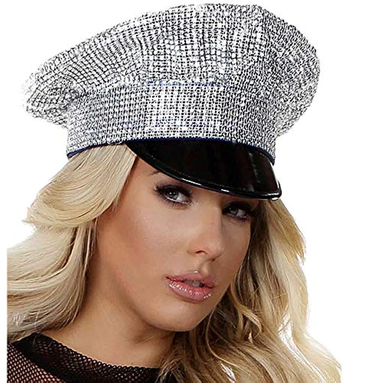 ナチュラル神経衰弱部族【即納】Forplay Bling Patrol Hat ハロウィンコスチューム ポリス?警察官?囚人?セキュリティー コスチュームアクセサリー HAT?帽子 [サイズ:ONE SIZE]