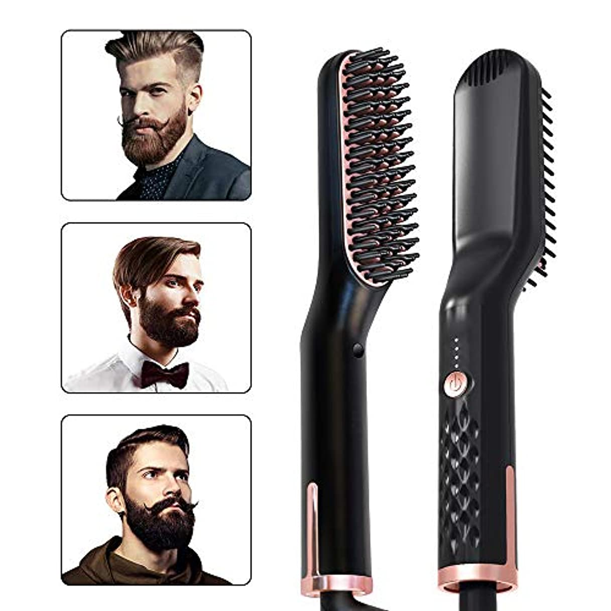 方法実用的マネージャーひげのくし豚毛ブラシひげの油口ひげクリームひげの水メンズスタイルストレートの髪のくし