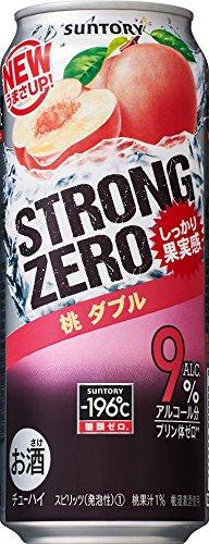 -196℃ ストロングゼロ 桃ダブル /サントリー 500ml缶 [期間限定] 500ML 1缶