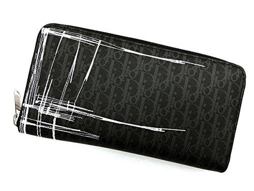(ディオール オム) DIOR HOMME ブラック ロゴ柄 ジップアラウンド長財布 2SBBC011-XSMH12E[並行輸入品]