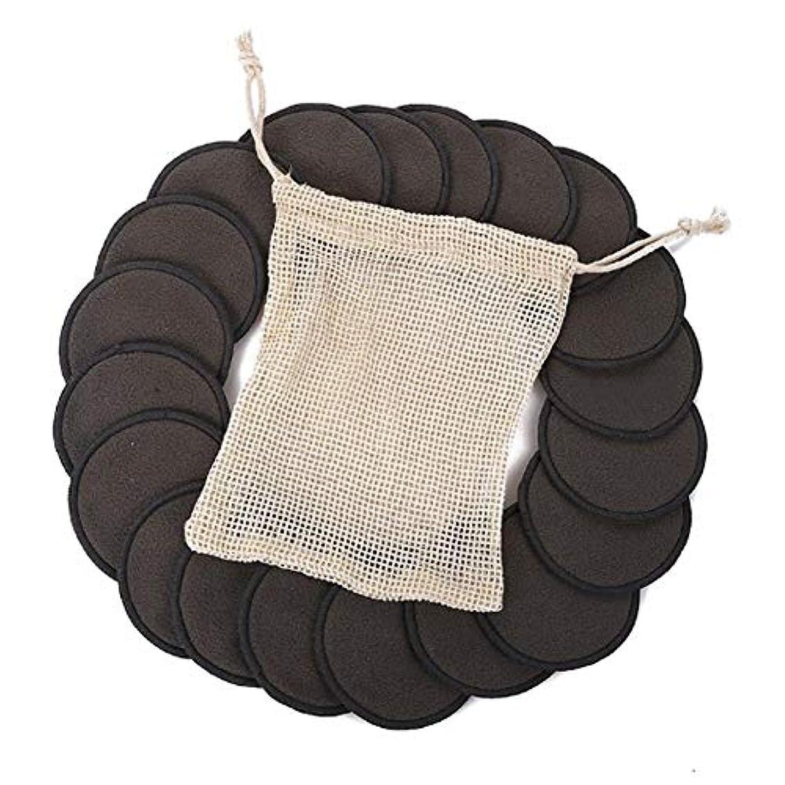望ましい失業娘綿のパッド、顔の目のための12PCS構造の取り外しの綿のパッドの再使用可能なタケ繊維の洗濯できる円形のパッド