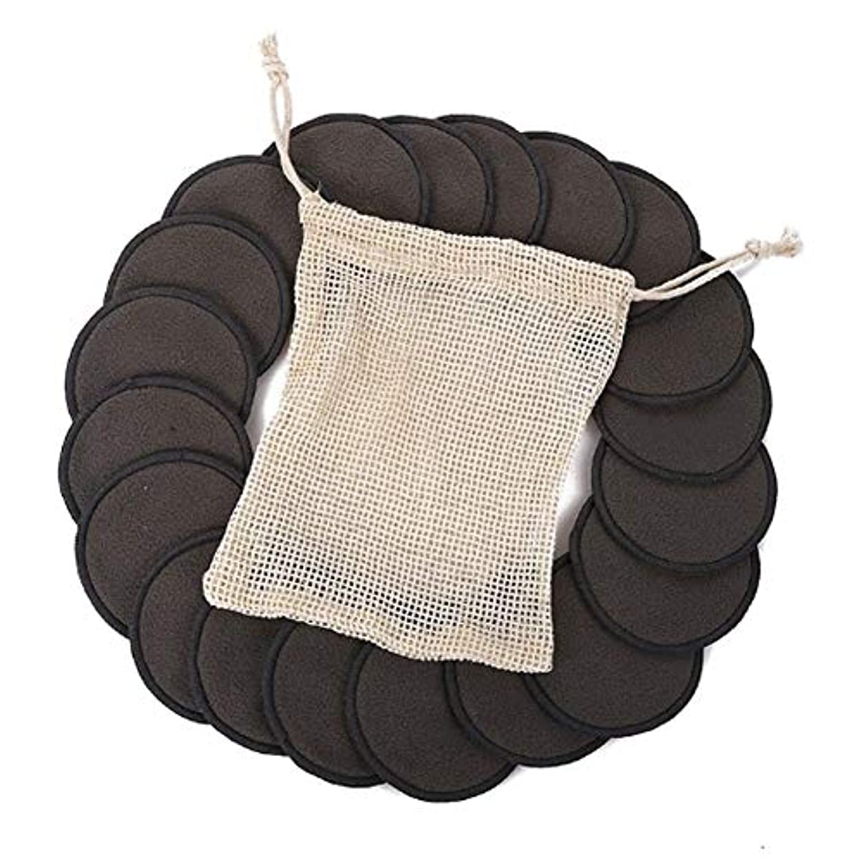 君主制こしょうそこ綿のパッド、顔の目のための12PCS構造の取り外しの綿のパッドの再使用可能なタケ繊維の洗濯できる円形のパッド