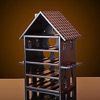 ソリッドウッドマホガニークリエイティブヨーロピアンワインラックレッドワインガラスシェルフワインラックキャビネット装飾吊り籠のホルダー