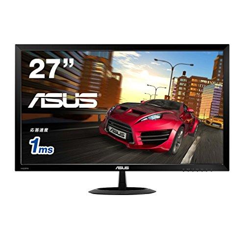 ASUS Gamingモニター 27型フルHDディスプレイ ( 応答速度1ms / フリッカーフリー / 1,920x1,080 / HDMI×2,D-sub / スピーカー内蔵 / 3年保証 ) VX278H